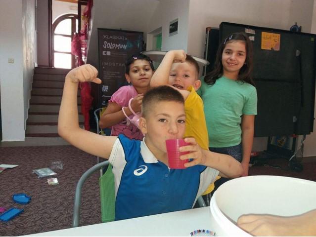 Children playing at Egipatsko Selo children's home, Mostar.