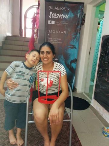 Rasna, Our Kids Foundation Volunteer, meeting children at Egipatsko Selo children's home Mostar.
