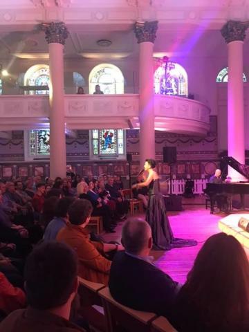 Amira Medunjanin and Bojan Zulfikarpašić at Our Kids Foundation fundraising Concert, London.