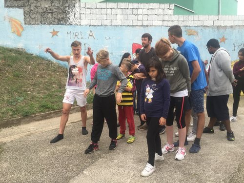 Students from Heathland School UK, visiting the Children's Home, Mostar.