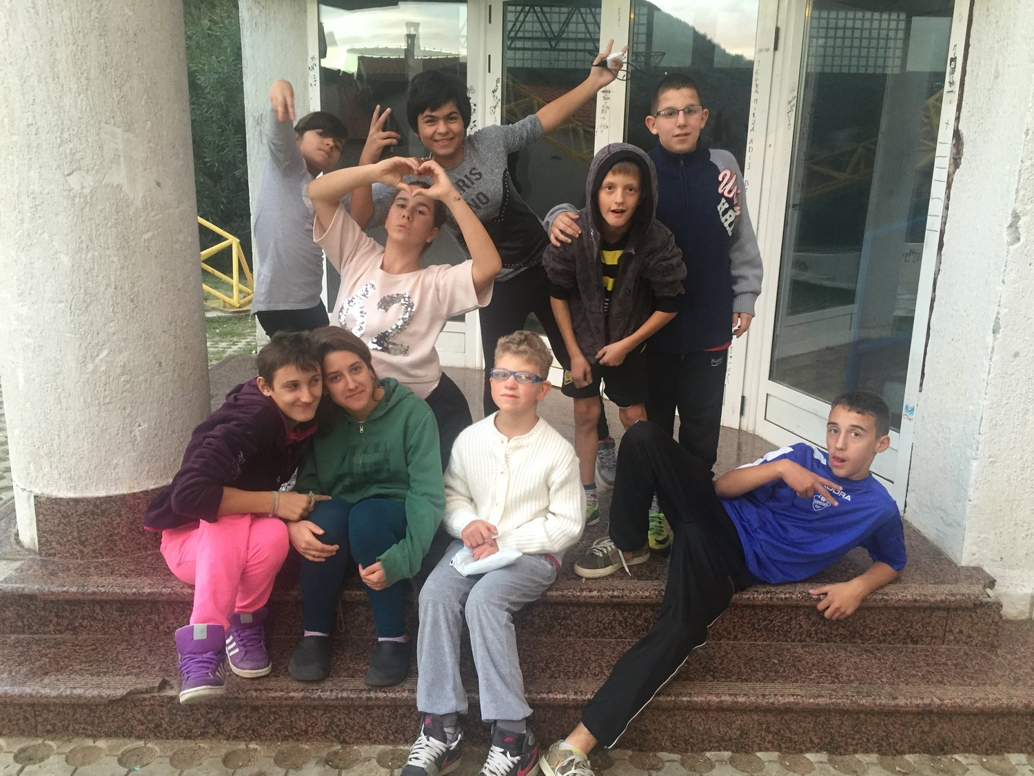 Group of children from Children's Home, Mostar