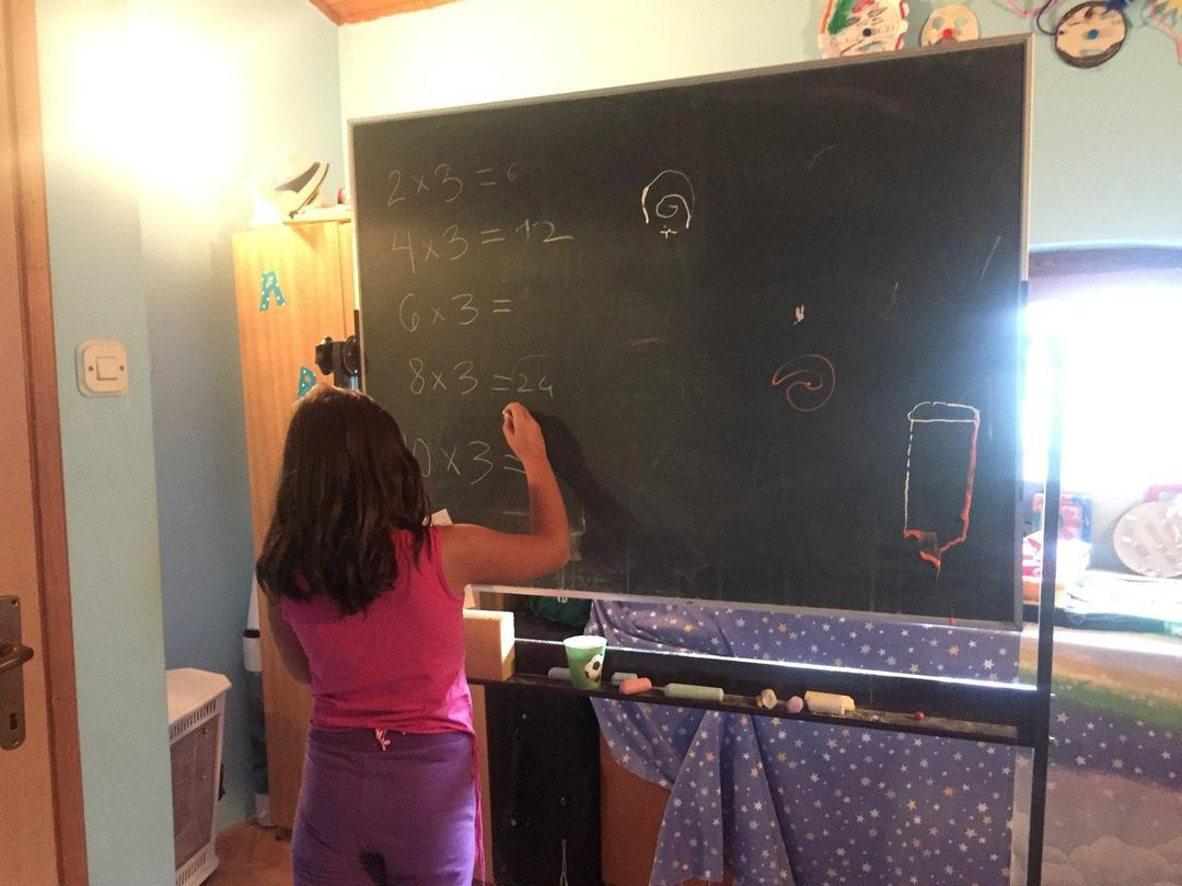 Math lessons at Our Kids Foundation Kids' Club, Mostar, Bosnia and Herzegovina.