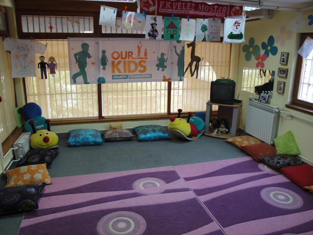 Kids Club, club house furnished and decorated by Our Kids Foundation
